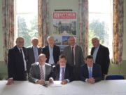 The signing of the contracts for Knockbeg College rebuild