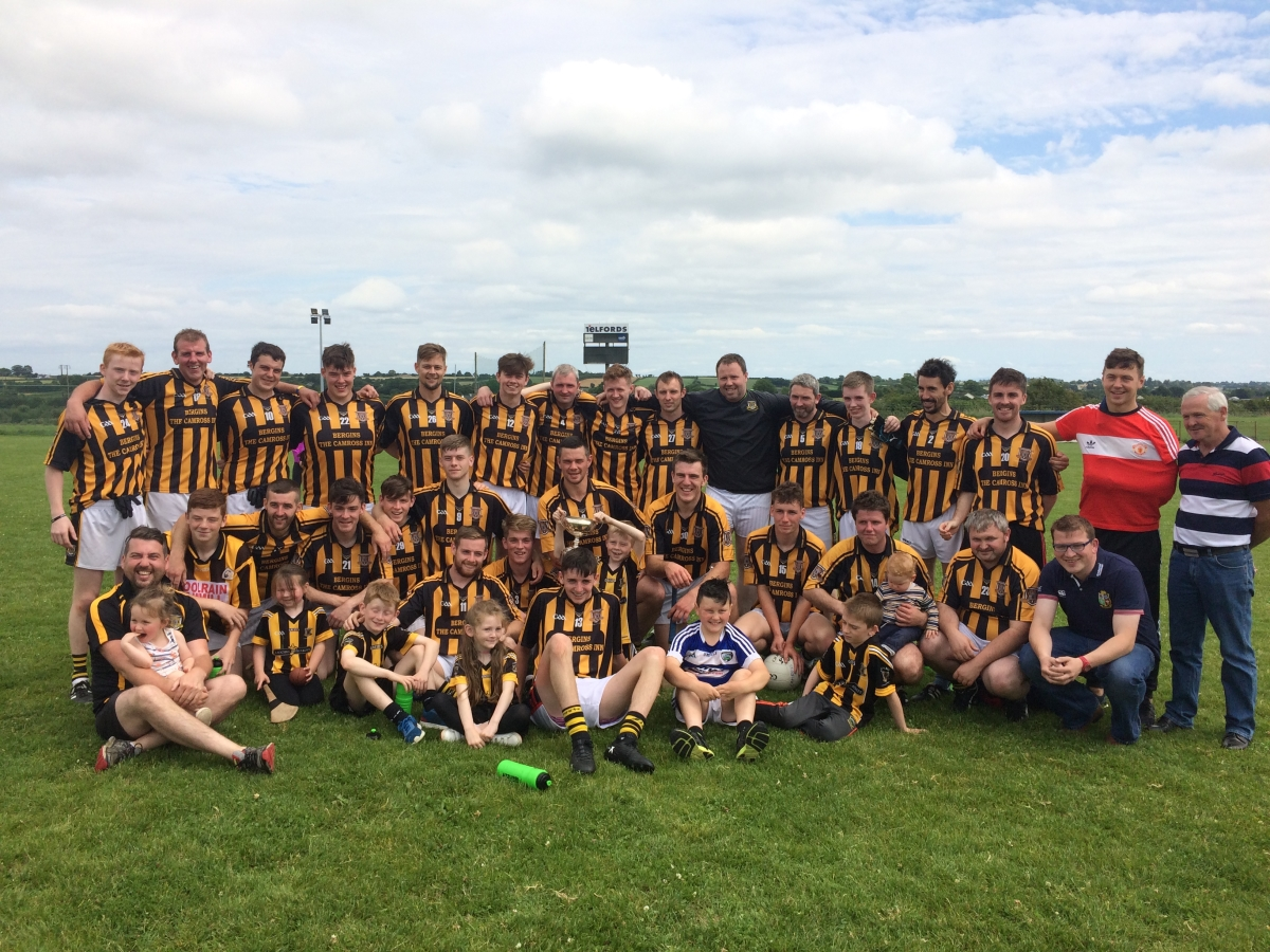 The Camross team who were crowned ACFL Division 5 champions in Mountmellick this morning