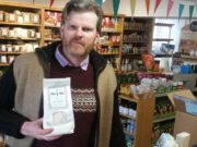 Kevin Scully with his Merry Mill products
