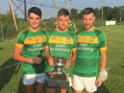 Danny Hickey, Michael Keogh and Adam Campion pictured with the Philadelphia Senior Championship trophy