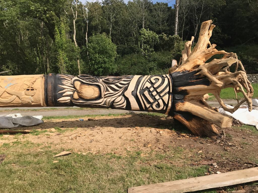 World record chainsaw carving attempt at ploughing