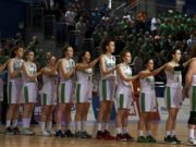 The Ireland U-18 team who beat Great Britain in the European Basketball championships
