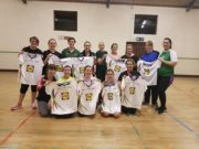 Members of the Mountrath Gaelic for Mothers and Others team on their last session before the All-Ireland final