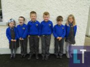 Pupils from junior infants in Knock NS get ready to roar on Ballypickas