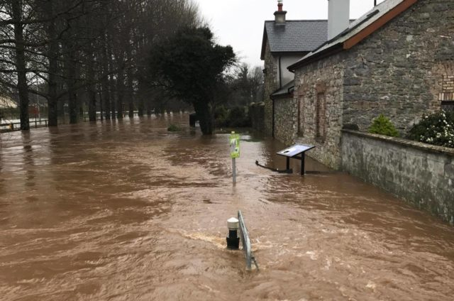 Mountmellick was under siege from floods this week