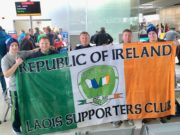 Members of the Laois Republic of Ireland Supporters club who have landed in Copenhagen