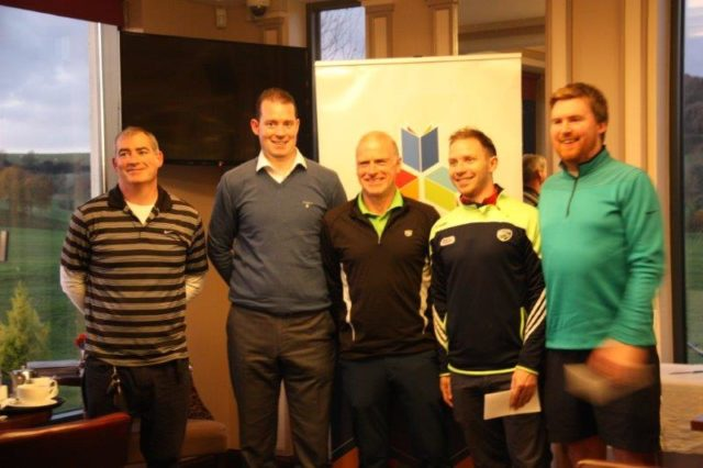 Portlaoise CBS and Portlaoise College teamed up to win the golf title