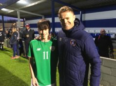 Colin Conroy with former Republic of Ireland International Damien Duff
