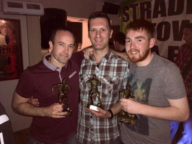 Conor Brady, middle, with Derek O'Gorman and John Clancy