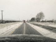 Heavy snow left many roads in a bad state this morning