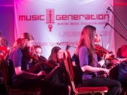Members of the Laois School of Music Youth Orchestra perform 'In My Back Garden' at Music Generation Laois' New Works Series premiere performance 2016