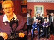 Mary Wheatley was honoured at convention recently for her services to Ladies football