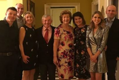 Brian ODriscoll and Amy Huberman were in Laois