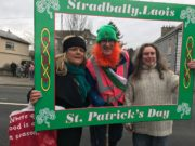 Liz Molloy, Dominic Hartnett and Austin Watt Clancy at the St Patrick's Day Parade in Stradbally