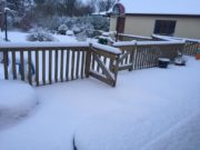 This picture, sent to us by Niamh O'Neill in Portarlington, shows just how much snow has fallen