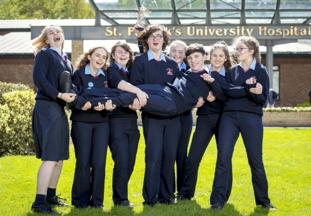 Super Troopers Promoting Mental Health , Pictured are Mountrath Community School, the secondary school winners - Pic: Marc O'Sullivan