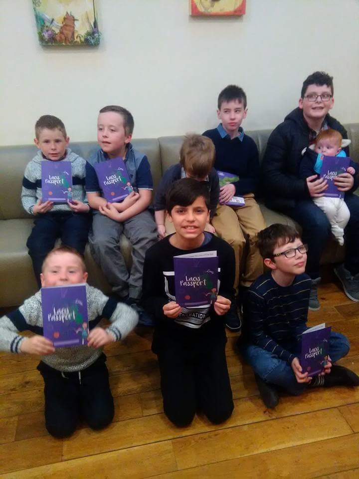 Children enjoying the launch of the Unravelling Laois passport