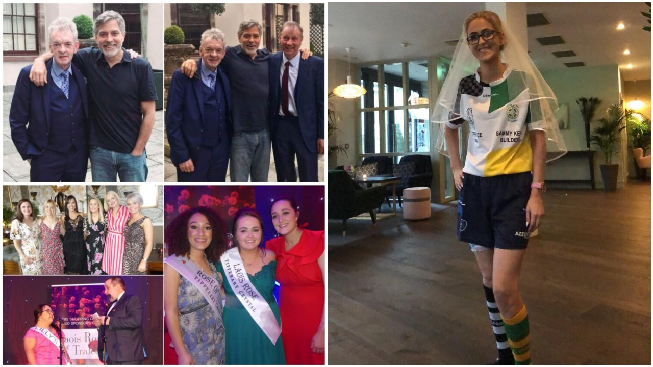 Clooney in Laois, Rose of Tralee winner and Hen outfits