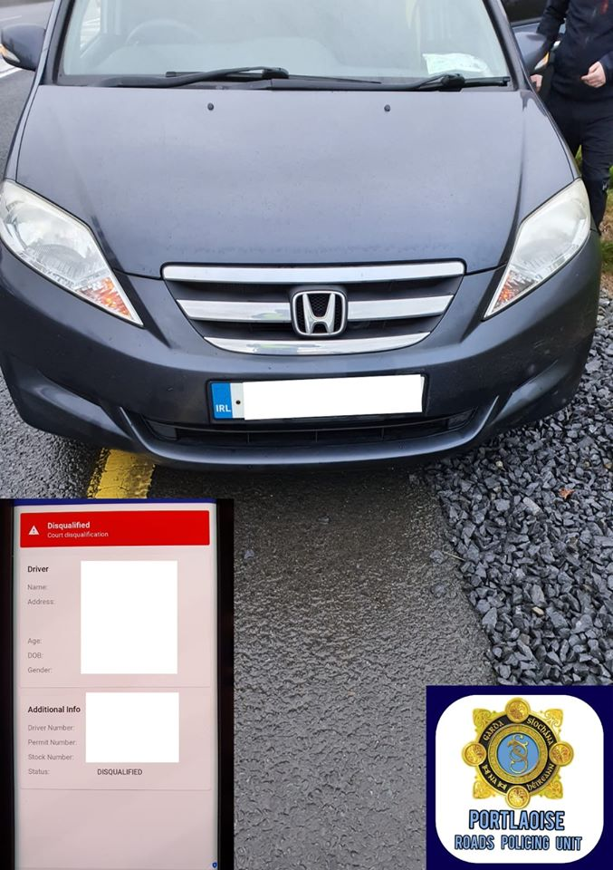 Disqualified driver arrested and car seized in Laois - Laois