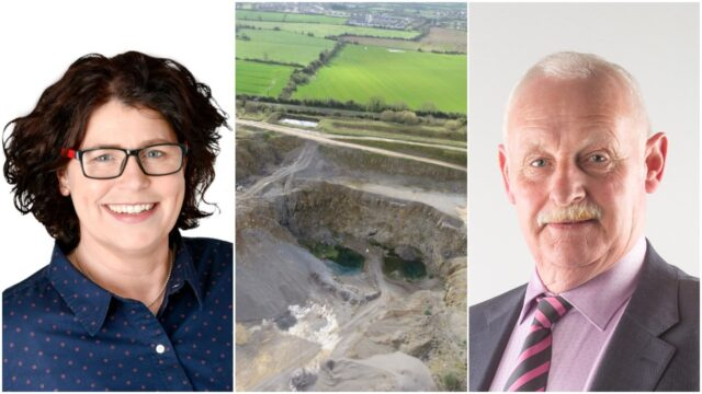 Cllr Aisling Moran and Cllr PAddy Bracken came to blows over the use of quarries in Laois