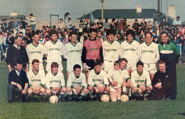 The Portlaoise AFC team that took on Kilkenny City in the 1991 FAI Cup