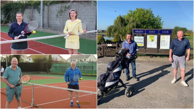The Heath Golf Club and Athy Tennis Club welcomed back members this week
