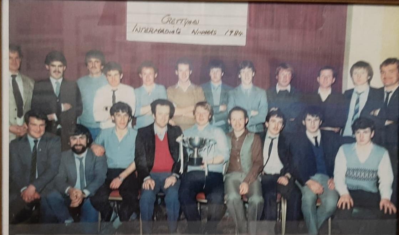 The Crettyard team that won the Laois intermediate football title in 1984