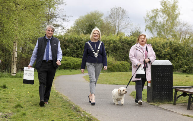 Laois County Council's Anti dog fouling campaign was launched this week
