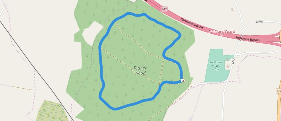 Togher Woods map