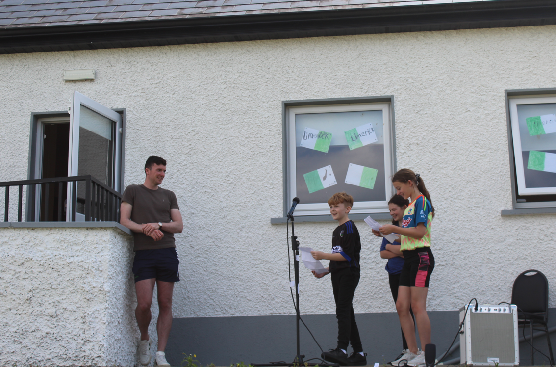 Declan Hannon visits Timahoe NS (1)