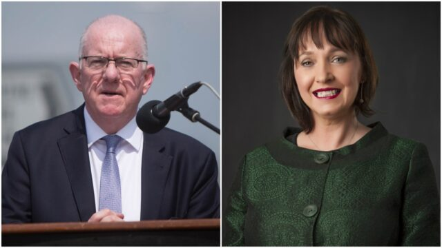 Fiona O'Loughlin and Charlie Flanagan